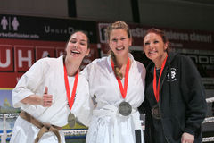Knockdown Karate Winners Stock Images