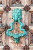Knocker двери, старый Knocker стоковая фотография rf