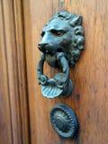 Knocker двери льва головной Стоковые Изображения RF
