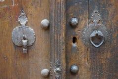 Knocker двери для человека и женщины в Иране Стоковые Изображения