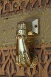 knocker двери золотистый Стоковая Фотография