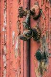 Knocker двери рыб стоковое изображение rf