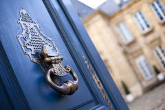 Knocker. On the door of a mansion in Bordeaux, France stock image