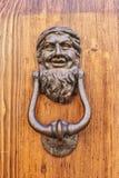 Knocker. Bearded man as a knocker Royalty Free Stock Photography