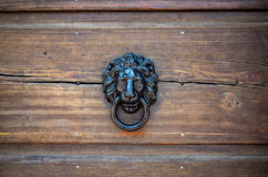 Knocker. Close view on the old ancient knocker Stock Image