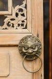 Knocker door. Lion Head door knocker grand palace gate Royalty Free Stock Photos