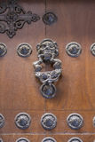 Knocker door medieval style in the city of Toledo, Spain Royalty Free Stock Photo