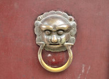 Knocker on the door Royalty Free Stock Photos