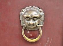 Knocker on the door. Knocker on the red door Royalty Free Stock Photos