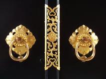 knocker drzwiowy japoński luksus Fotografia Royalty Free