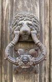 Knocker knocker shaped old lion face Royalty Free Stock Photos
