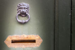 Knocker and letter box Royalty Free Stock Image