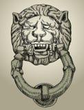 Knocker lion Stock Photo