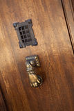 Knocker and peephole Stock Photography