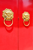Knocker red door Royalty Free Stock Photo
