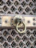 Knocker ring of brass Stock Image