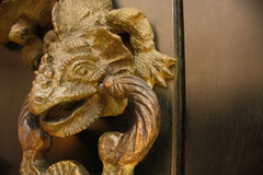Knocker shaped dragon, detail. Colombia. Stock Photo
