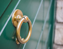 Knocker to brass ring Stock Photography