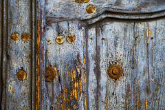 Knocker  wood  door castiglione olona   italy Royalty Free Stock Photos