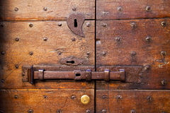 Knocker and wood  door castiglione olona varese italy Stock Image