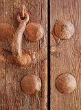 Knocker wooden door Stock Image