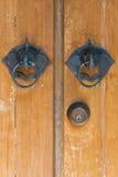 Knockers двери слонов Стоковое фото RF