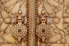 Knockers from palace door at Fez Stock Image