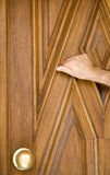 Knocking on the old Door Stock Photography