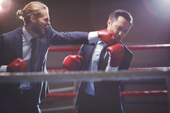 Knocking out rival Royalty Free Stock Photos