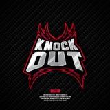 Knockout σχέδιο λογότυπων πάλης Στοκ φωτογραφία με δικαίωμα ελεύθερης χρήσης