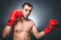 Knockout - Funny boxer Royalty Free Stock Images