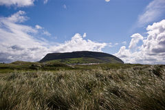 Knocnarea from strandhill. Knocknarea mountain from standhill beach, county Sligo, Ireland Royalty Free Stock Image