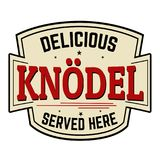 Knodel sticker or label Stock Photos