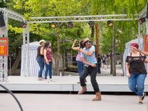 Knoebels é um parque de diversões da entrada gratuita para famílias fotografia de stock royalty free