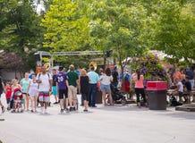 Knoebels ist ein FreiaufnahmeVergnügungspark für Familien lizenzfreies stockbild
