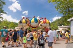 Knoebels ist ein FreiaufnahmeVergnügungspark für Familien lizenzfreie stockfotos