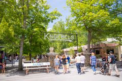 Knoebels ist ein FreiaufnahmeVergnügungspark für Familien lizenzfreie stockbilder