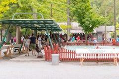 Knoebels ist ein FreiaufnahmeVergnügungspark für Familien stockbild