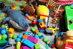 Knoei in de ruimte van het kind Stock Foto's
