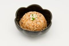 Knoflook gebraden rijst Stock Afbeeldingen