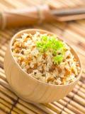 Knoflook gebraden rijst royalty-vrije stock foto's