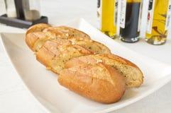 Knoflook geroosterd brood stock afbeeldingen
