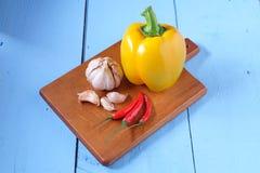 Knoflookspaanse peper en paprika Stock Foto