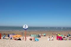 Knokke强夺比利时海滩海nord 免版税库存图片