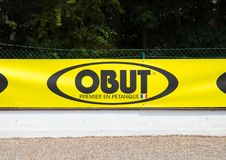Knokke/België - 04 08 18: Spel beste Frankrijk van het Obut het eerste merk petanque stock fotografie