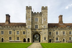Knole House Entrance to Outer Courtyard Stock Photography