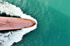 Knollenbogen des Frachtschiffs stockbild