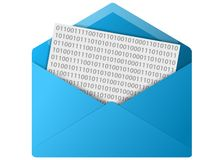 Knoop de e-mail van de Envelop Royalty-vrije Stock Foto