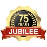 knoop 75 jaar jubileum royalty-vrije illustratie