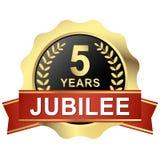 knoop 5 jaar jubileum vector illustratie